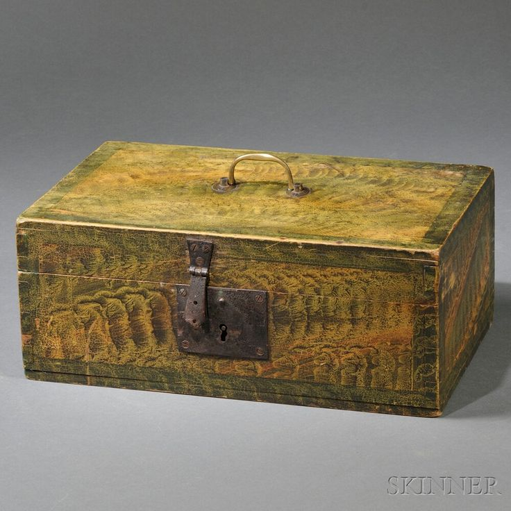 Fancy Paint-decorated Document Box | Sale Number 2710B, Lot Number 312 | Skinner Auctioneers SOLD $984.00