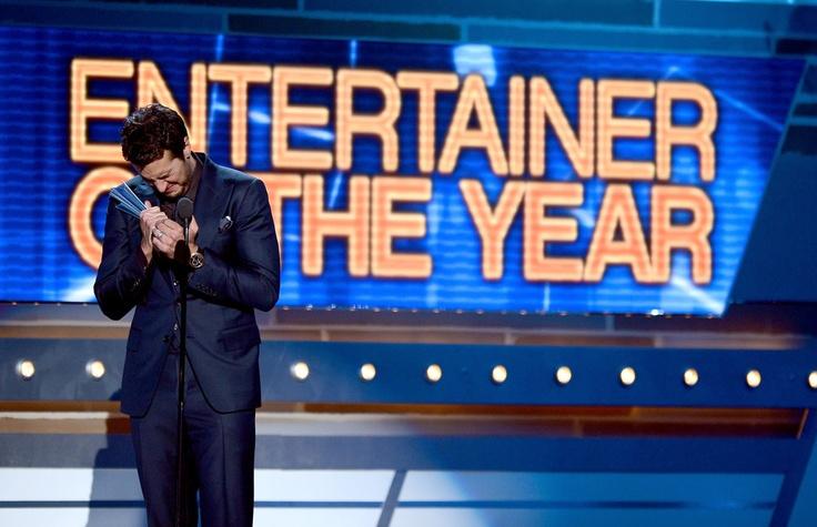 Luke Bryan won Entertainer of the Year award! CONGRATS!