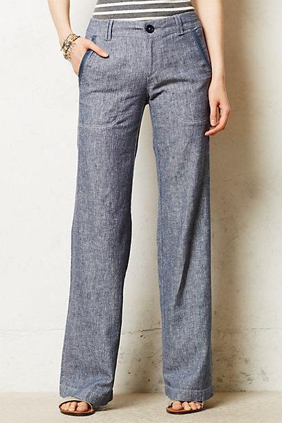 Pilcro Linen Wide Leg /