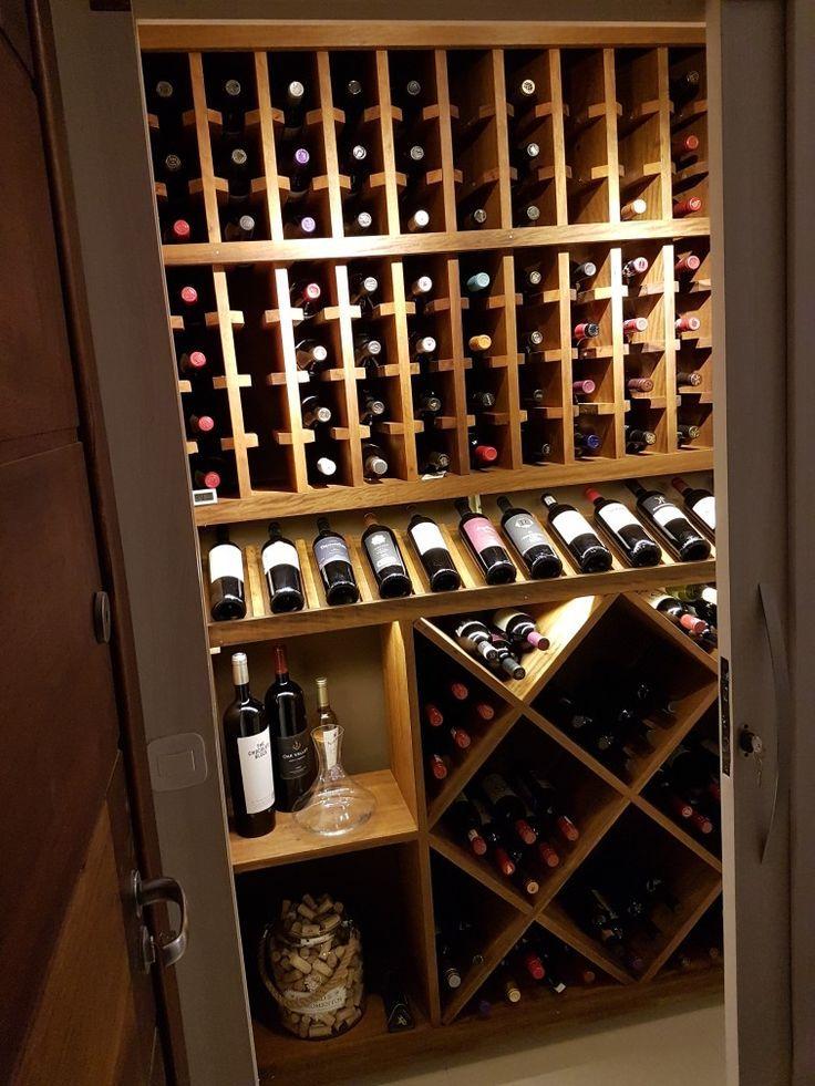 Minha Adega My Wine Cellar Weinkeller Keller Weinregal Wand