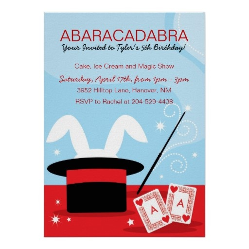 Children Magic Show Birthday Party Personalized Invitation