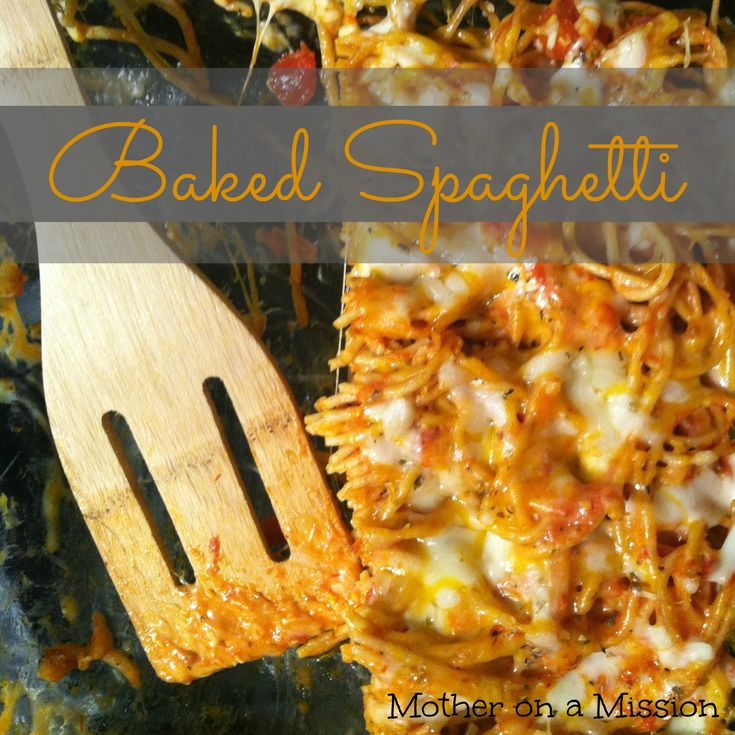 Baked Spaghetti...you'd never know this recipe uses whole grain pasta. It's so good!