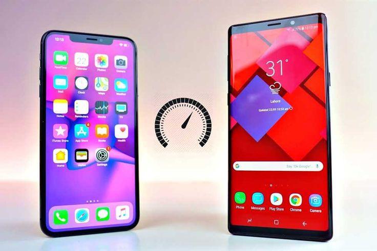 بالفيديو آيفون Xs ماكس يواجه جالكسي نوت 9 في اختبار السرعة Iphone Samsung Galaxy Note Samsung Galaxy