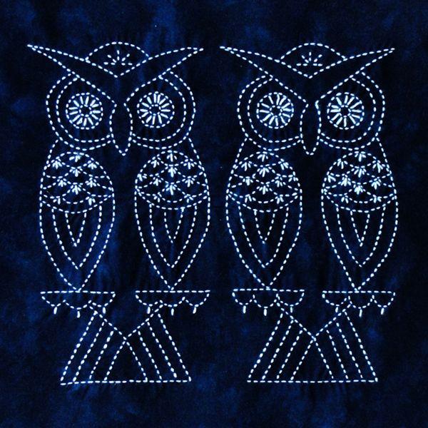 Sashiko Owls
