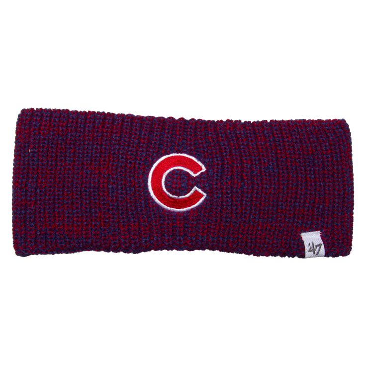 "Chicago Cubs Royal and Red and Royal ""C"" Logo Knit"