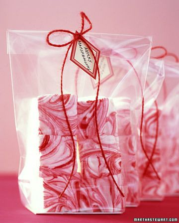 To pair with hot cocoa in a jar - homemade peppermint marshmallows