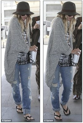 Hobo chic: Drew Barrymore ditches the glamour for grunge