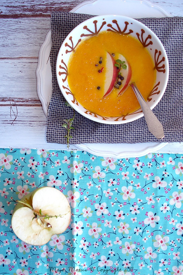 Carrot And Apple Soup With Cumin And Coriander Recipe — Dishmaps