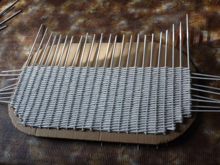 il fondo dei tubi di carta vimini