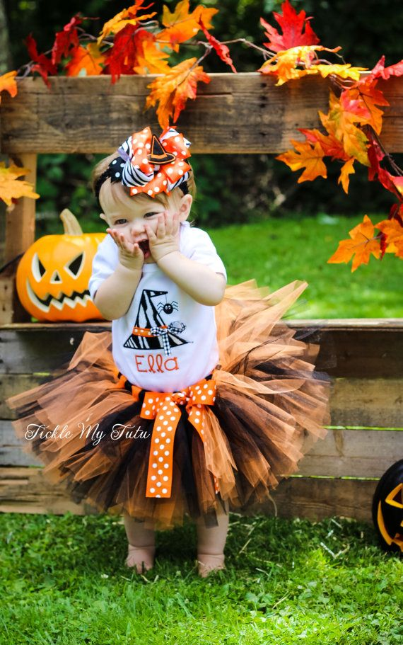 Wacky Witch Hat with Spider Halloween Tutu outfit by TickleMyTutu