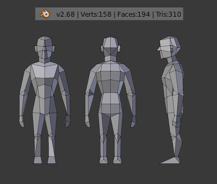Low Poly Character Modeling Blender : Best frontside reference images on pinterest