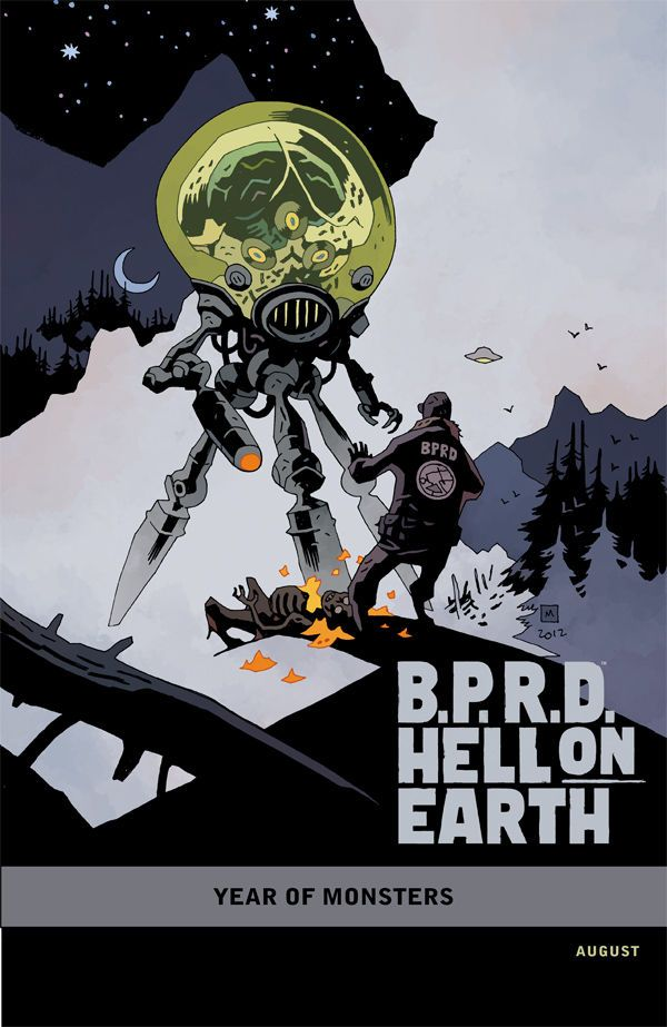 B.P.R.D. Hell on Earth: The Return of the Master #1 (Mike Mignola variant cover): Mikemignola, Graphics Novels, Geek Stuff, Bprd, Comic Books, Scifi, Illustration, Mike Mignola, Comic Art