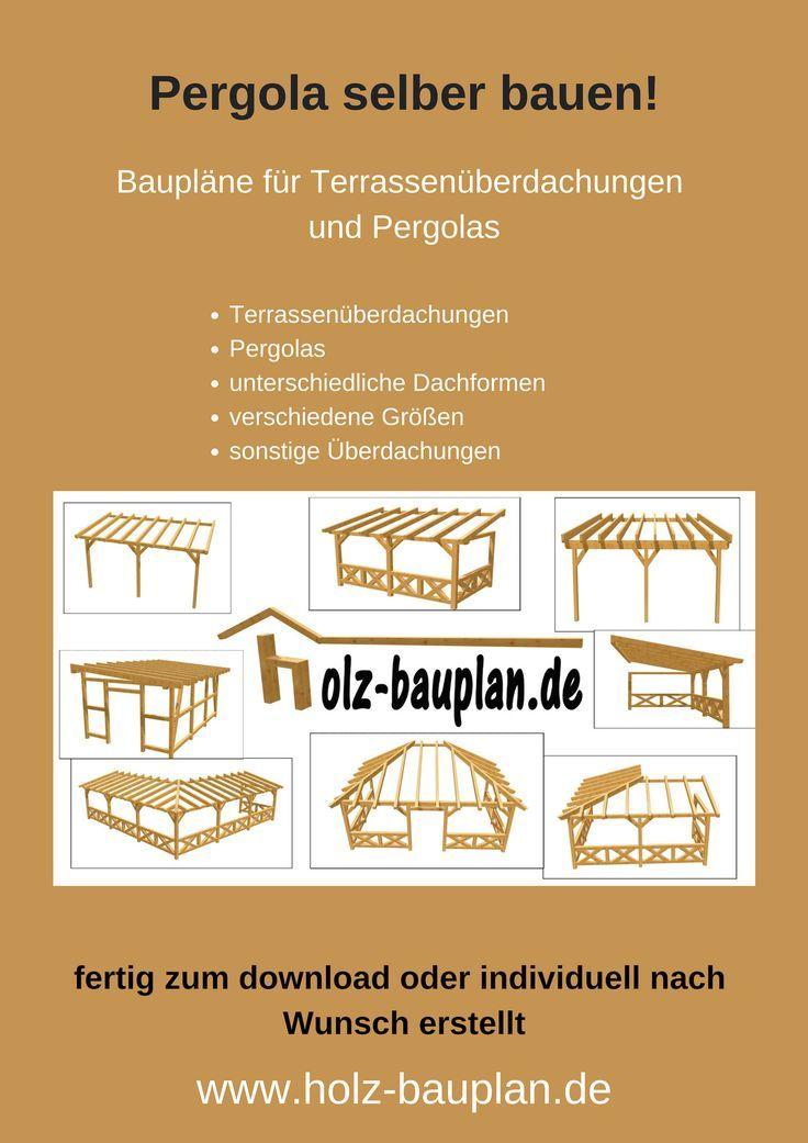 Terrassenüberdachung selber bauen, Pergola bauen,…