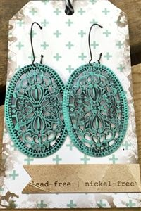 Boutique, Lucy Lue Vintage Earrings - Turquoise