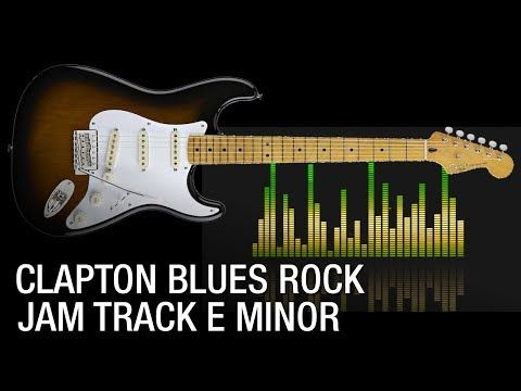 E Minor Clapton Blues Rock Guitar Backing Track - YouTube