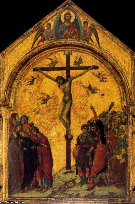 Duccio di Buoninsegna. Damn thats a lot of gold leafing...