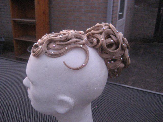 Blond 2 piece #hairpiece with Swarovski by #Dancinghair! €85 #ballroomhair #ballroom #dancing #latin