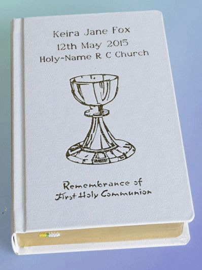 Personalised Catholic First Communion Roman Missal - C4518 - Commemorative Communion Gifts for Boys and Girls Personalised Catholic First Communion