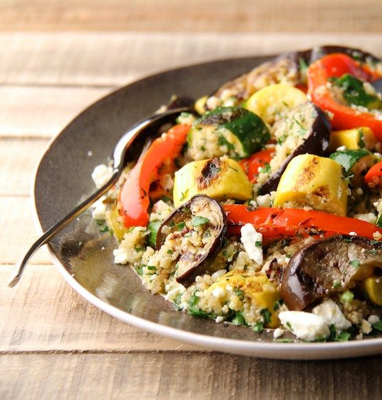 Mediterranean Quinoa and Grilled Vegetable Salad | Recipe | Grilled ...