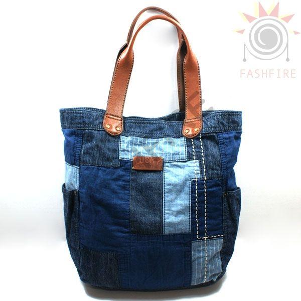 Lucky Brand Rain Or Shine Patchwork Denim Tote Bag #HKRU1073 | Lucky Brand HKRU1073
