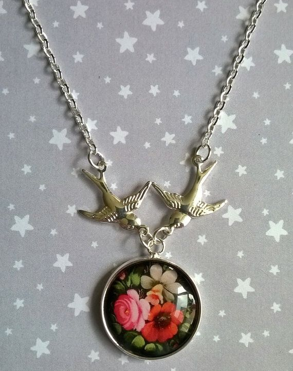 The Swallows and the Russian Floral Folk Art  by TheMysticalPug, £9.00