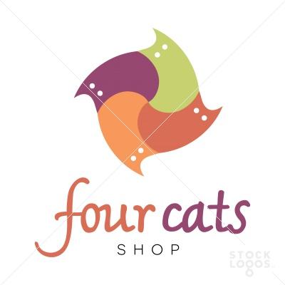 four cats shop logo