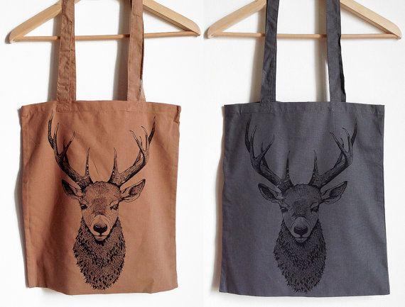 Shopper con stampa cervo da serigrafia. 3 di HardtimesTattoo