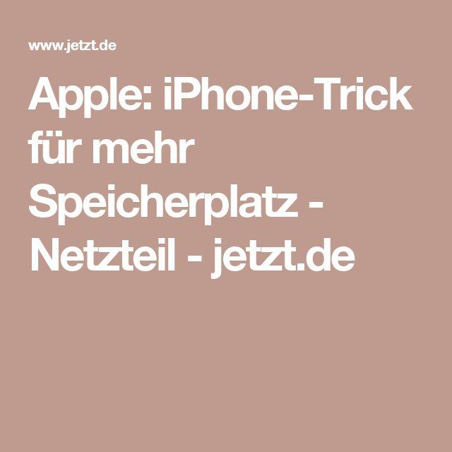 Apple: iPhone-Trick für mehr Speicherplatz - Netzteil - jetzt.de