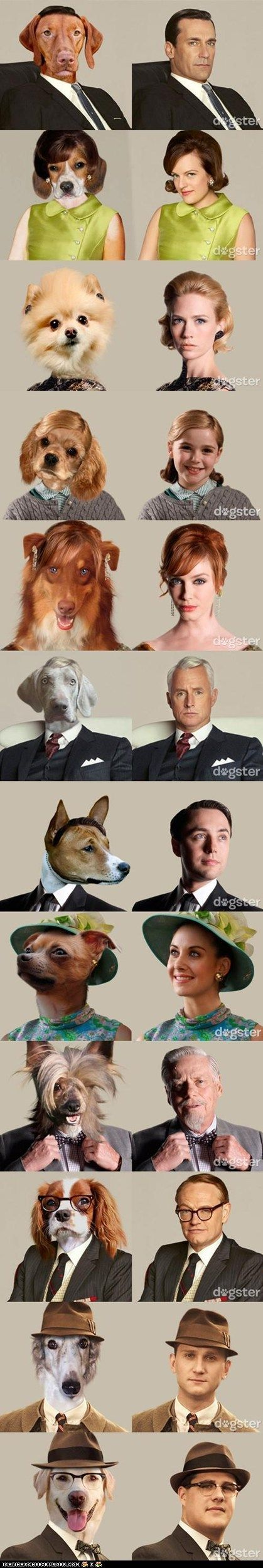 My two loves!!!! Dogs and MadmenMad Dogs, Dogs Turn, Pets, De Mad, Madmen Fashion, Funny, Mad Men, Men Character, Men Dogs