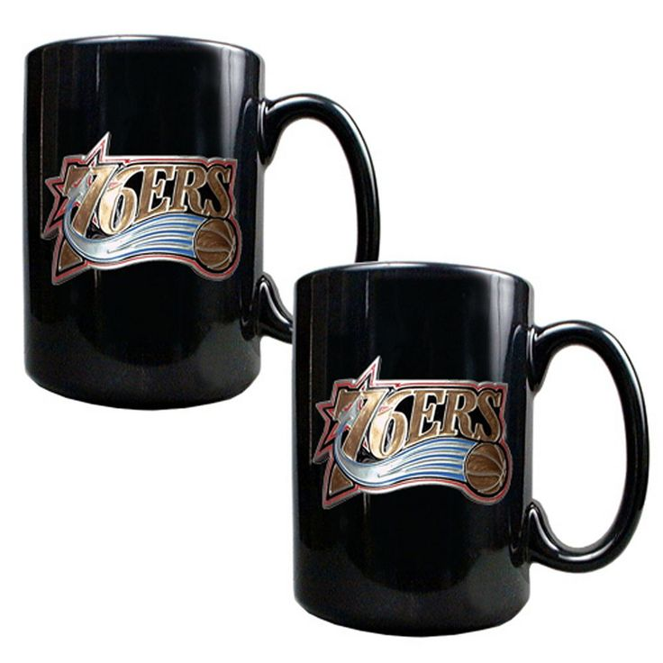 Philadelphia 76ers 2-pc. Mug Set, Black