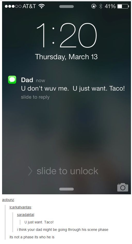 25 Dad Texts That Broke the Internet THIS REMINDS ME OF THE VINE OF THE SCENE DUDE WHOS LIKE YOU GUYS ARENT AWKO-TACO YOUR CUTE LIZARDS AND IMDJDFJ