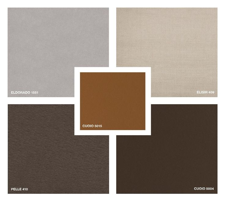 Fabric: Elisir 409 Velvet: Eldorado 1551 Leather: Pelle 410 Hide Leather: Cuoio 5004 - 5015