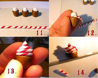 How to make cute cupcakes out of polymer clay. Repinned from Vital Outburst clothing vitaloutburst.com