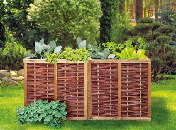 Hochbeet Weide Erweiterbar 80 X 80 X 80 Cm Basis Bausatz In 2020 Hochbeet Gartengestaltung