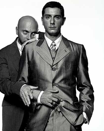 Domenico Dolce and Stefano Gabbana by Michel Comte