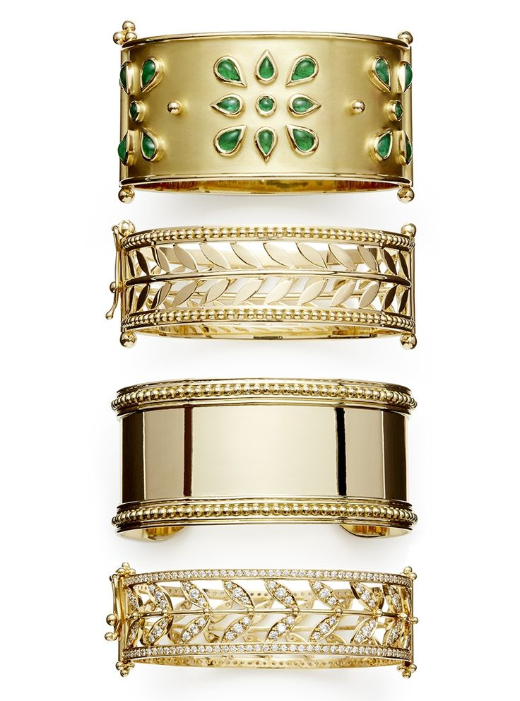 Temple St. Clair gold bangles