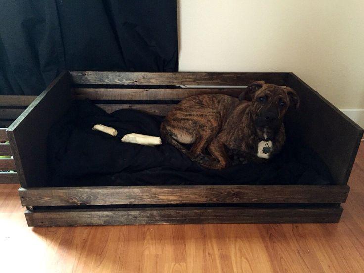 rustic dog bed frame large