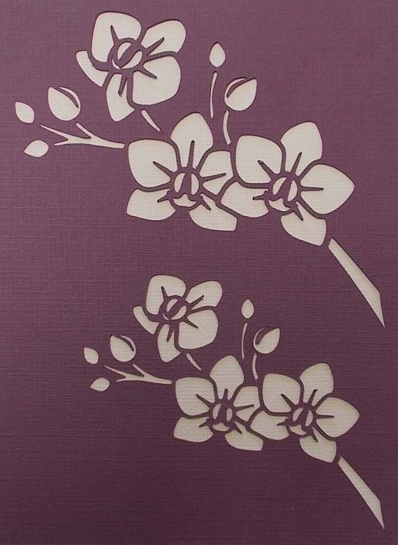 Orchid Sprays Stencil от BettsHandmadecrafts на Etsy