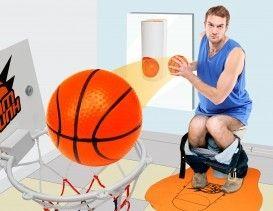 Slam Dunk Toilet Basketball. #cadeau #mannen #sinterklaascadeau #kerstcadeau #verjaardagscadeau #gadget #vaderdag
