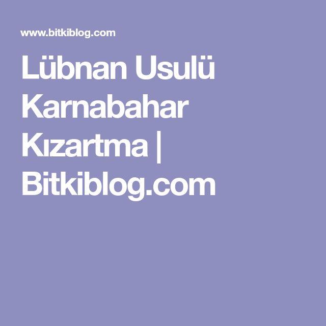 Lübnan Usulü Karnabahar Kızartma | Bitkiblog.com