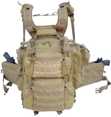Ultimate Deluxe Tactical Assault 3-Day 72 Hours Survival Pack Backpack TAN COLOR