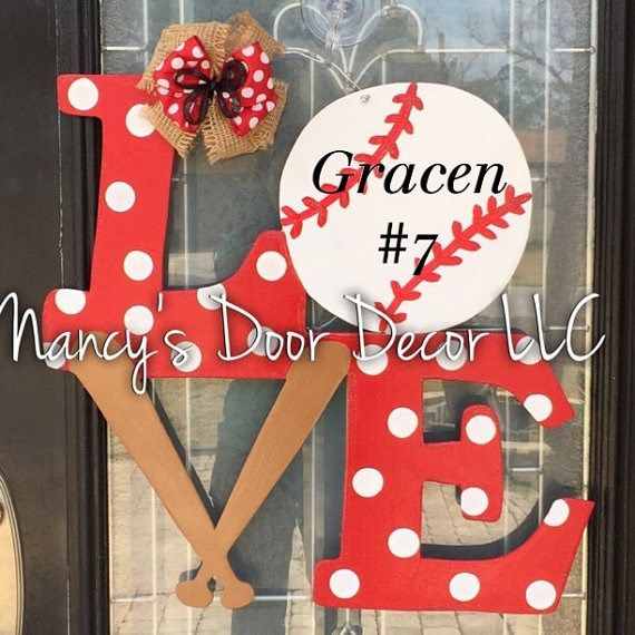 Love Sports Wood Door Hanger | Jane