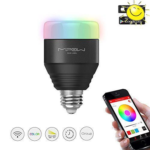 #christmas #MIPOW Bluetooth 4.0 Smart LED Light Bulb can wireless control the Light ON/OFF, Brightness, Change Color, Set Timer, and group control from your mobi...
