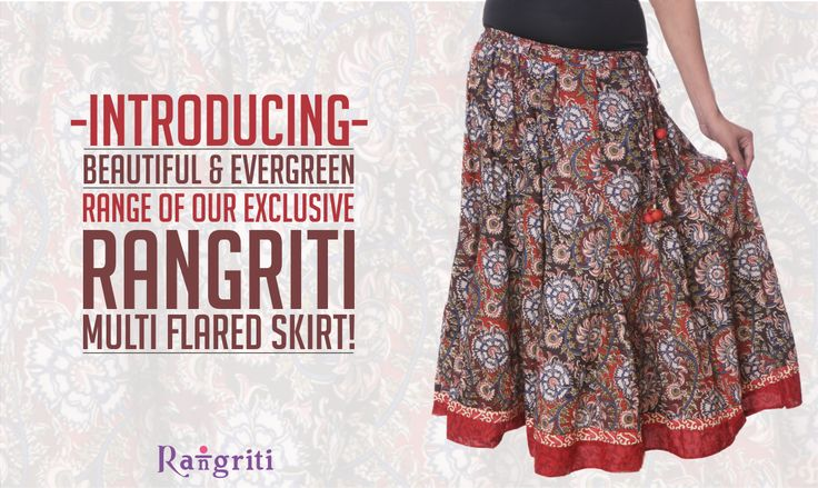 Go ethnic this summer and pump up your style quotient. Rangriti brings to you the multi flared skirt collection. So what are you waiting for lovelies? Go get grabbing! Get this beauty here: bit.ly/1yhXp9b