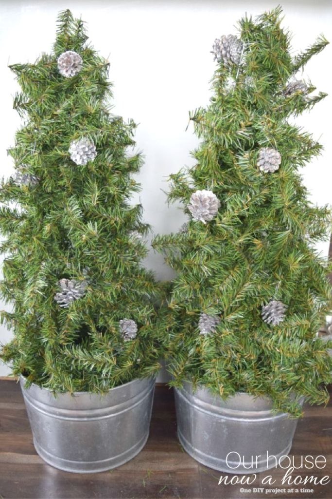 diy christmas tree topiary simple and low cost - Real Christmas Tree Prices