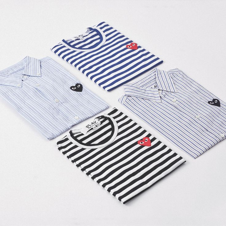 Play Comme Des Gar 231 Ons Stripes For The Heart On Your