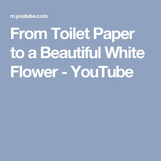 From Toilet Paper to a Beautiful White Flower - YouTube