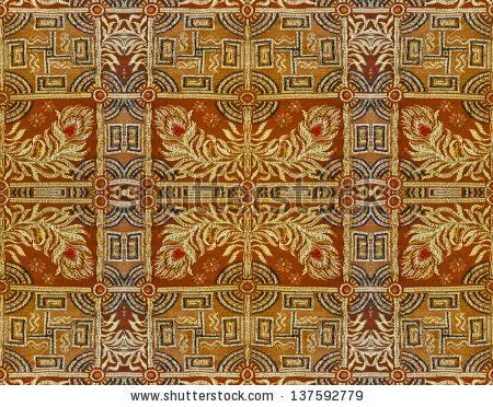 Ornamental textured background in orange and yellow tones.