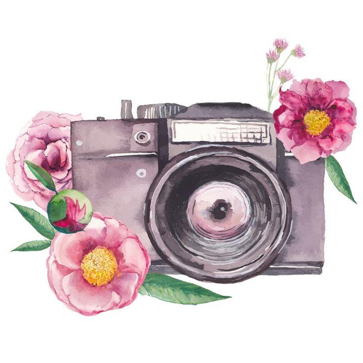 акварельный логотип фотографа
