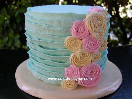 Love this tea party cake!  Beautiful colors